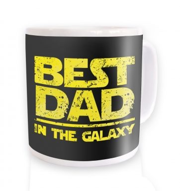 Best Dad In The Galaxy mug (yellow detail)