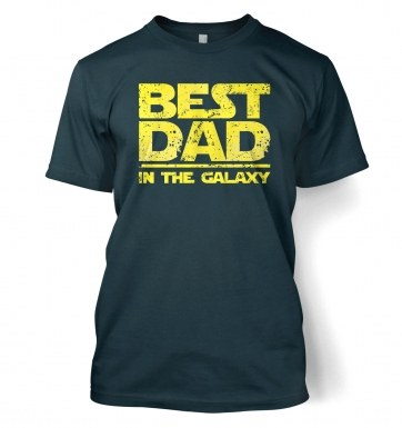 Best Dad In The Galaxy t-shirt (yellow detail)