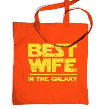 Best Wife In The Galaxy tote bag