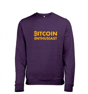 Bitcoin Enthusiast Mens Heather Sweatshirt