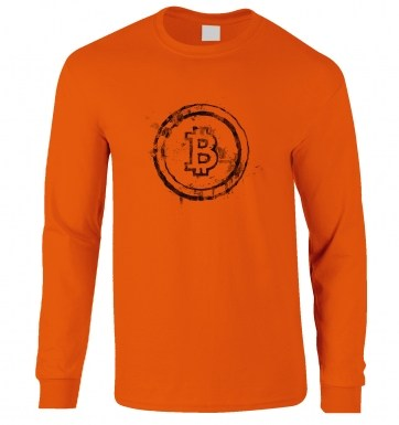 Bitcoin Splatter long-sleeved t-shirt
