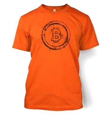 Bitcoin Splatter men's t-shirt