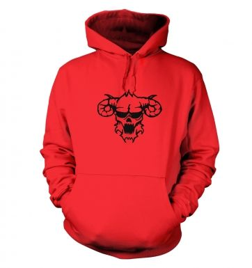 Black Outline Demon's Head Hoody