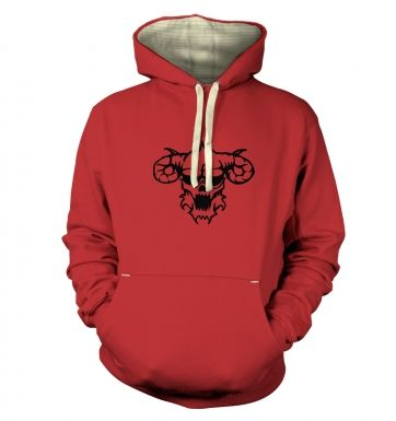 Black Outline Demons Head  hoodie (premium)