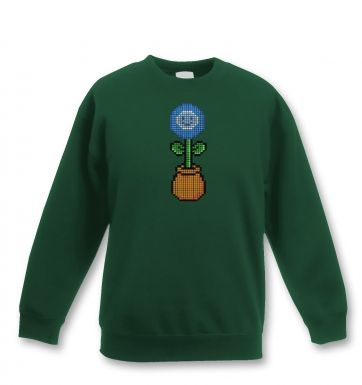 Blue Flower 8-Bit kids' sweatshirt