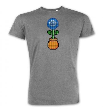 Blue Flower 8-Bit premium t-shirt