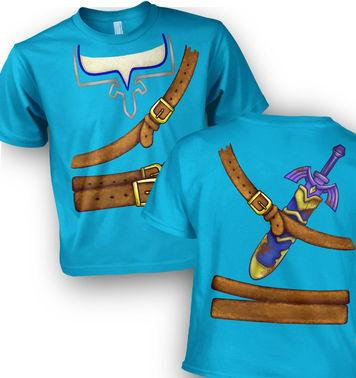 Blue Hyrule Costume kids t-shirt