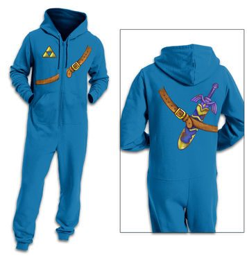 Blue Hyrule Warrior Costume adult onesie