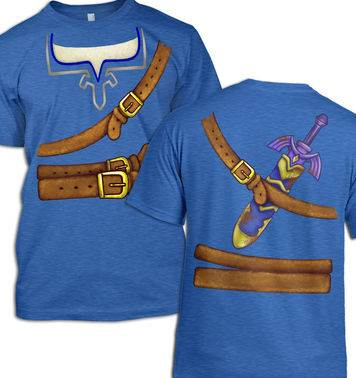 Blue Hyrule Warrior Costume t-shirt