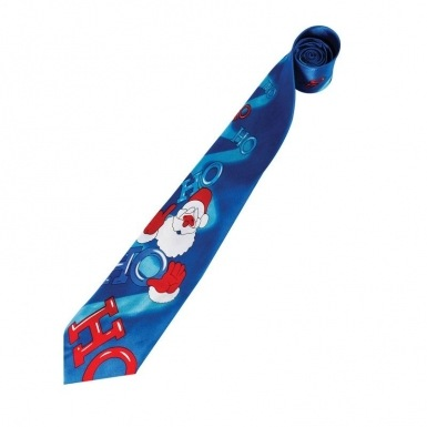 Blue Novelty Christmas tie (musical)