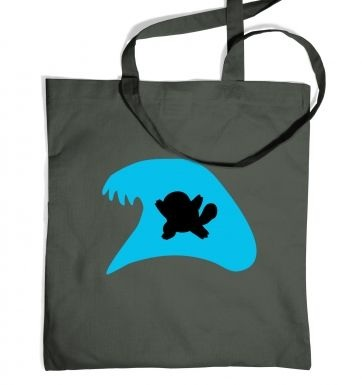 Blue Squirtle Silhouette tote bag