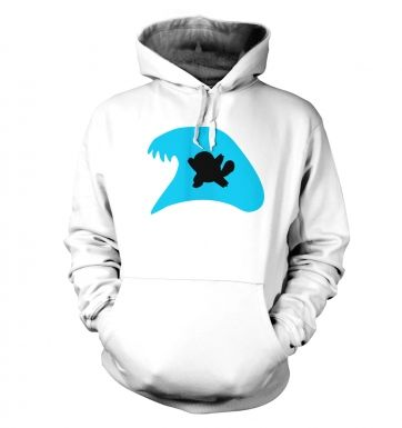Blue Squirtle Silhouette  hoodie