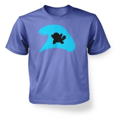 Blue Squirtle Silhouette kids t-shirt