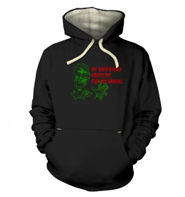 Boyfriend Loves Me For Brains Premium Hoodie