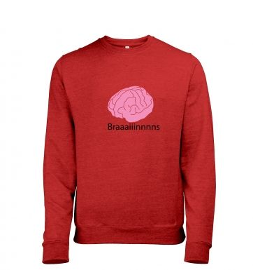 Braaaains heather sweatshirt