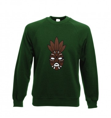 Brown Tribal Mask  sweatshirt