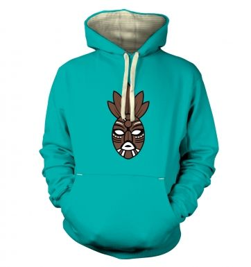 Brown Tribal Mask premium hoodie
