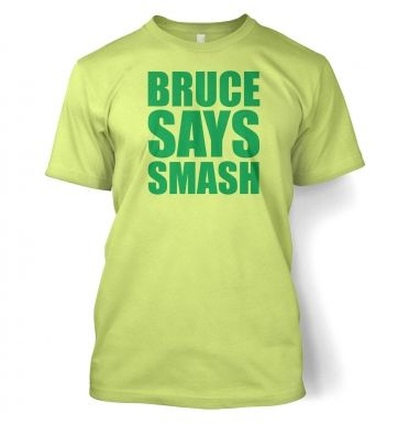 Bruce Says Smash Adult T shirt