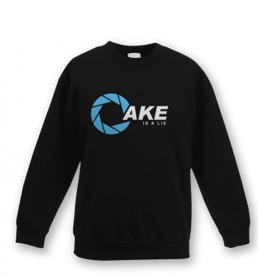 Cake is a Lie Aperture Kids Sweatshirt Portal