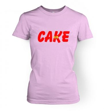 Cake is a lie  womens t-shirt