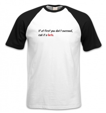 Call It A Beta short-sleeved baseball t-shirt