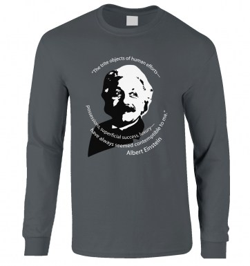 Capitalism Quote Einstein long-sleeved t-shirt