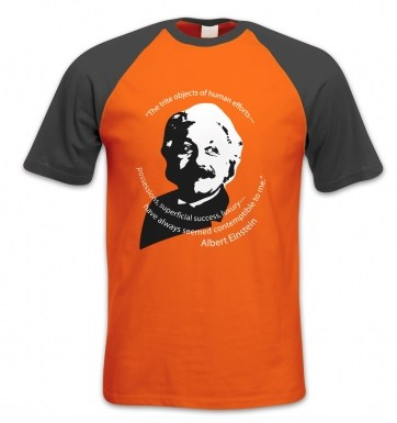 Capitalism Quote Einstein short-sleeved baseball t-shirt