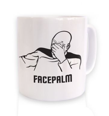 Captain Picard Facepalm mug