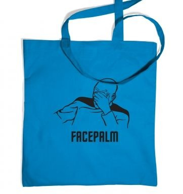 Captain Picard Facepalm tote bag