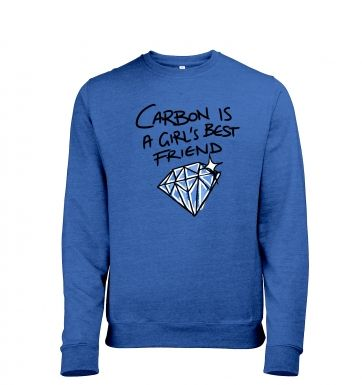 Carbon Is A Girl's Best Friend men's heather sweatshirt