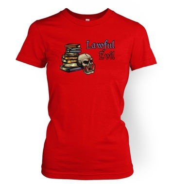 Cartoon Alignment Lawful Evil women's t-shirt