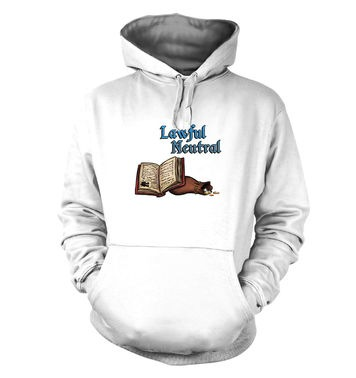 Cartoon Alignment Lawful Neutral hoodie