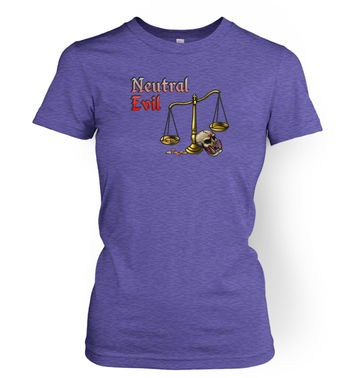 Cartoon Alignment Neutral Evil women's t-shirt