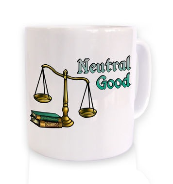 Cartoon Alignment Neutral Good mug