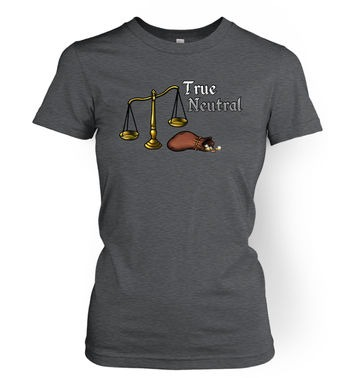 Cartoon Alignment True Neutral womens t-shirt