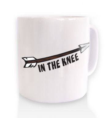 Cartoon Arrow In The Knee  mug