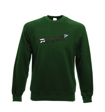 Cartoon Arrow In The Knee sweatshirt