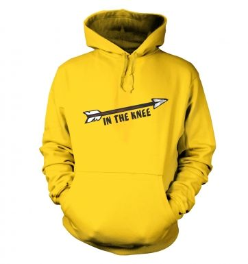 Cartoon Arrow In The Knee hoodie