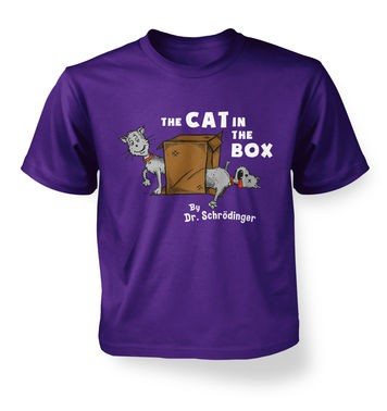 Cat In The Box Dr Schrodinger kids t-shirt