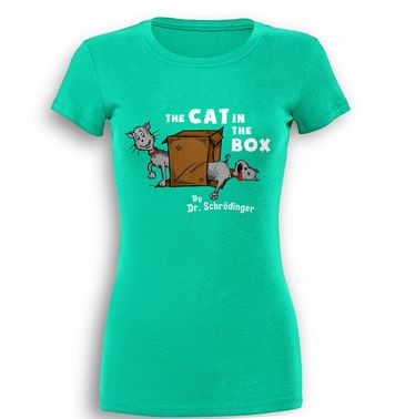 Cat In The Box Dr Schrodinger premium women's t-shirt