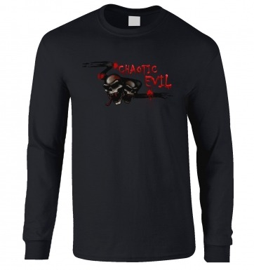 Chaotic Evil long-sleeved t-shirt
