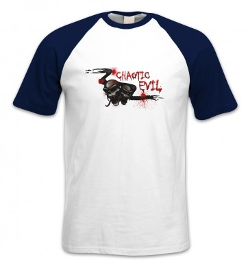Chaotic Evil short-sleeved baseball t-shirt