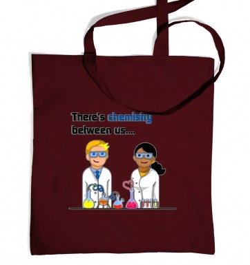 Chemistry Between Us tote bag