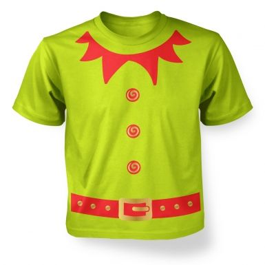 Christmas Elf Costume (Red detail) kids t-shirt