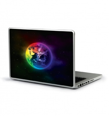 Colourful Planet Earth laptop sticker