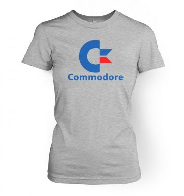 Commodore Logo women's fitted t-shirt