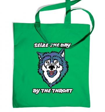 Courage Wolf tote bag