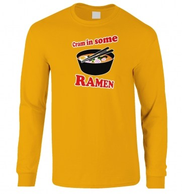 Cram In Some Ramen long-sleeved t-shirt