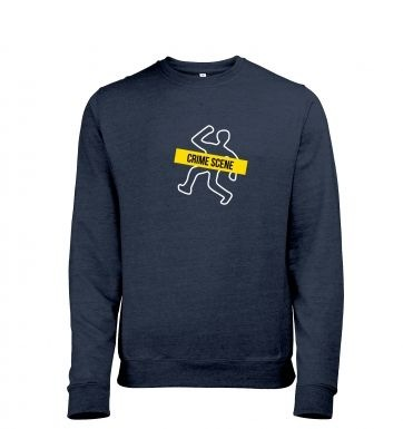 Crime Scene heather sweatshirt