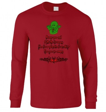 Cthulhu Valentine long-sleeved tshirt